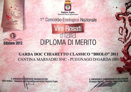 Diploma Merito Vini Rosati