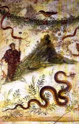 Bachus i Wezuwiusz, Pompeje